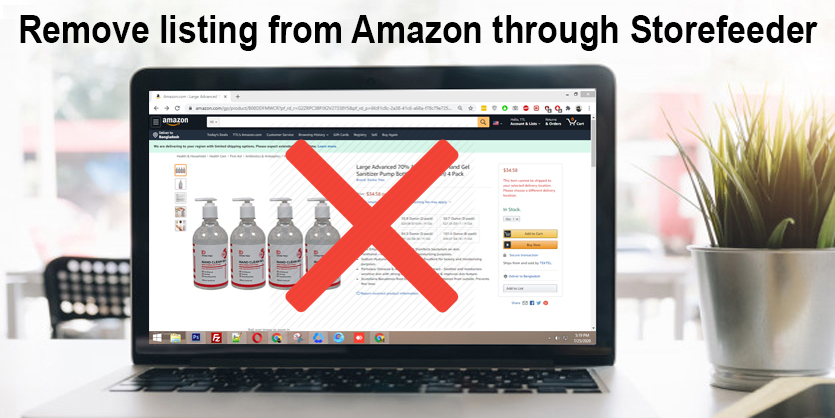 How to remove listing from Amazon through Storefeeder